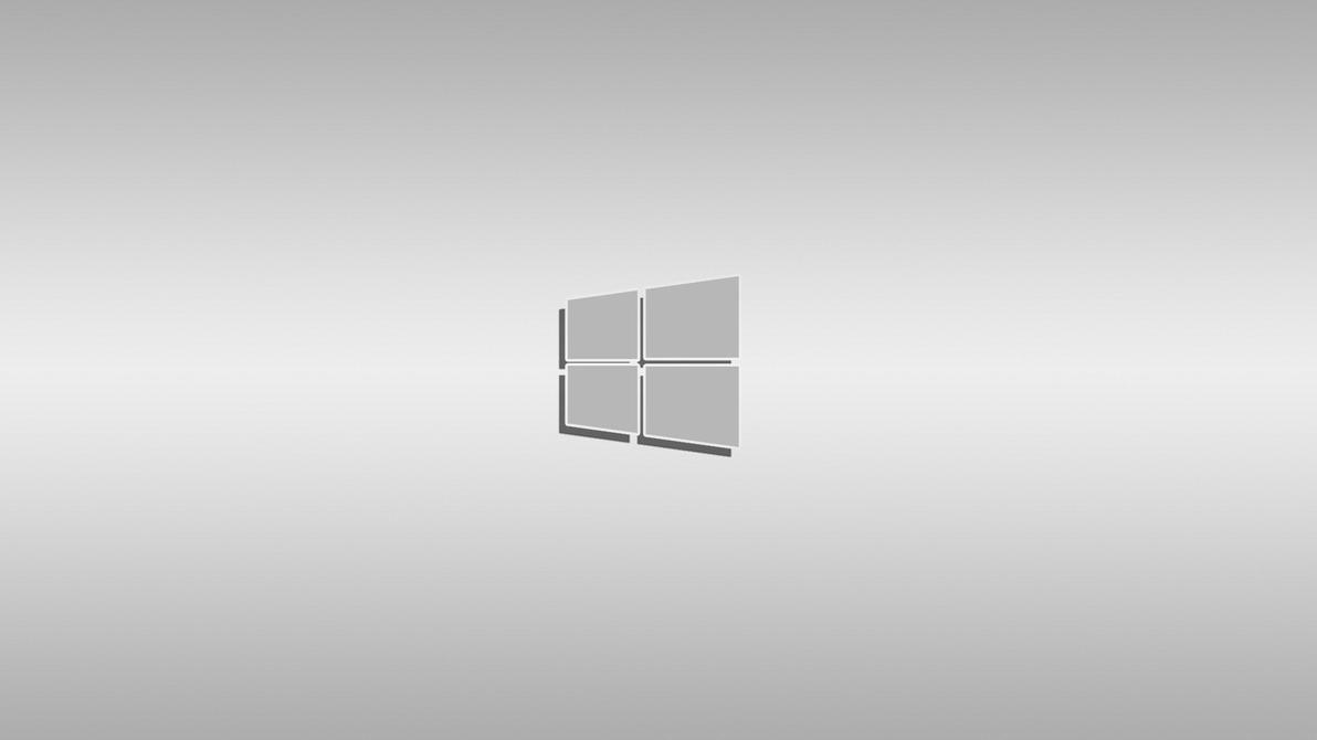 Windows New Logo Wallpaper Light Gray Clean By Denismn On