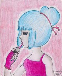Applying Make-Up by BluePanda326