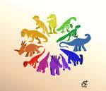 Dinosauria Color Wheel