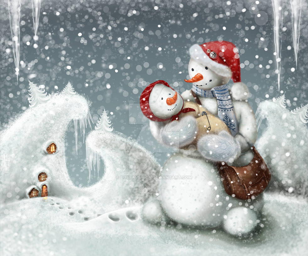 SnowDad and SnowDaughter