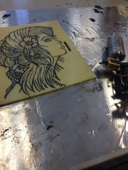 Tattoo Academy Day 3 - Gypsy Girl Outline