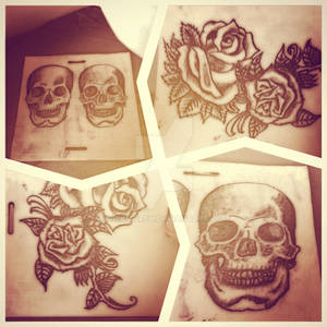 Tattoo Academy Day 2 - roses and skulls