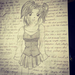 Old lecture notes- anime girl