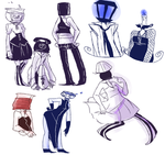 a bunch of object heads