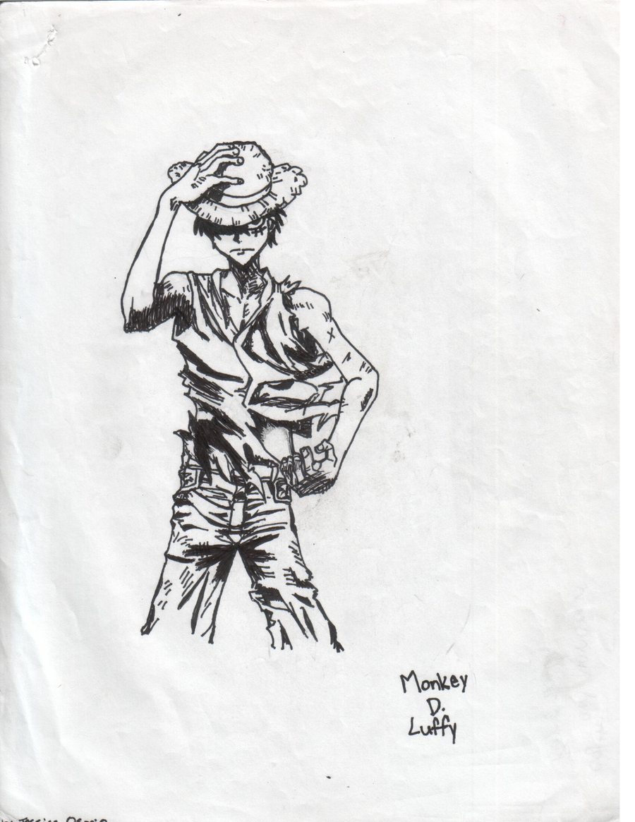 Luffy Black And White By Nico Robin09 On Deviantart