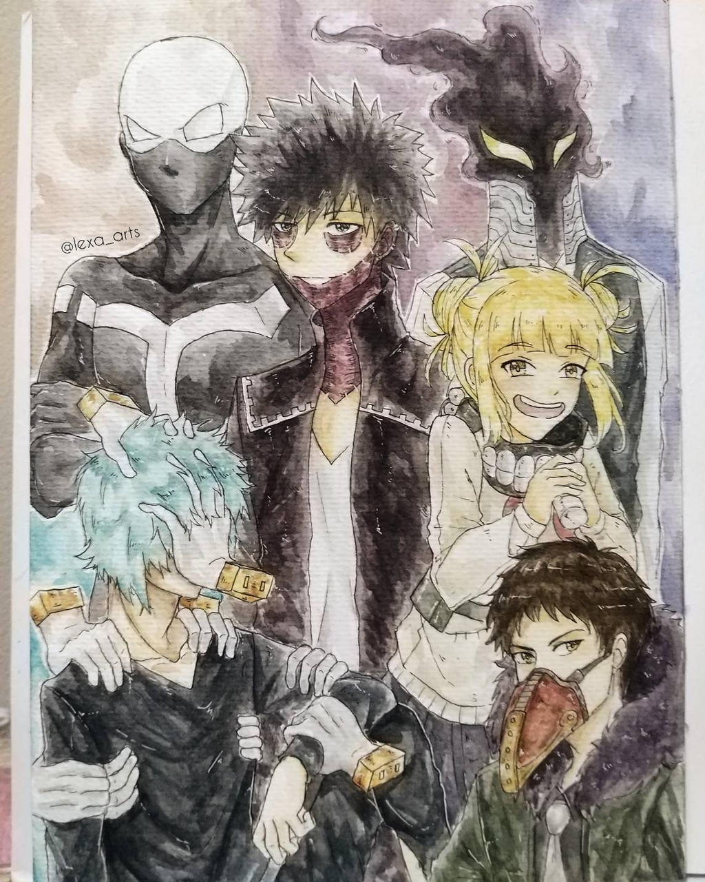 League Of Villains Watercolor By Kukipomme On Deviantart Basically the league of villains have midoriya and he's scary now. league of villains watercolor by