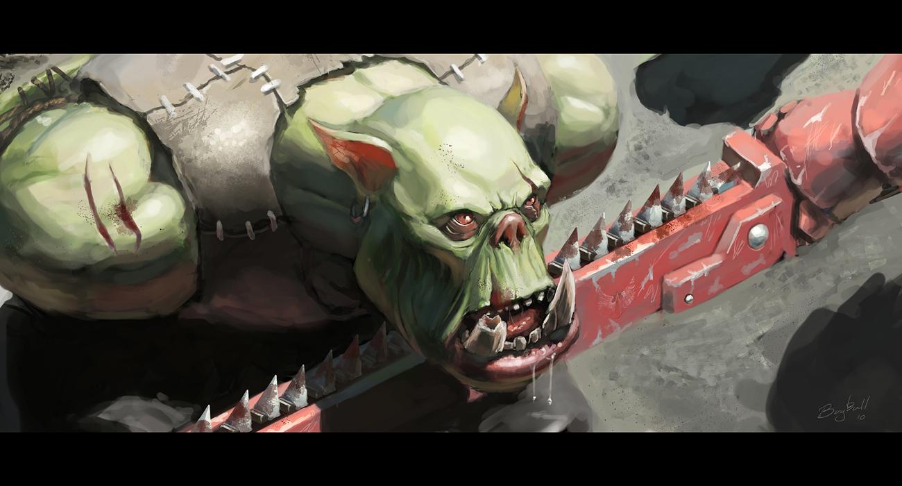Ork prisoner by bugball