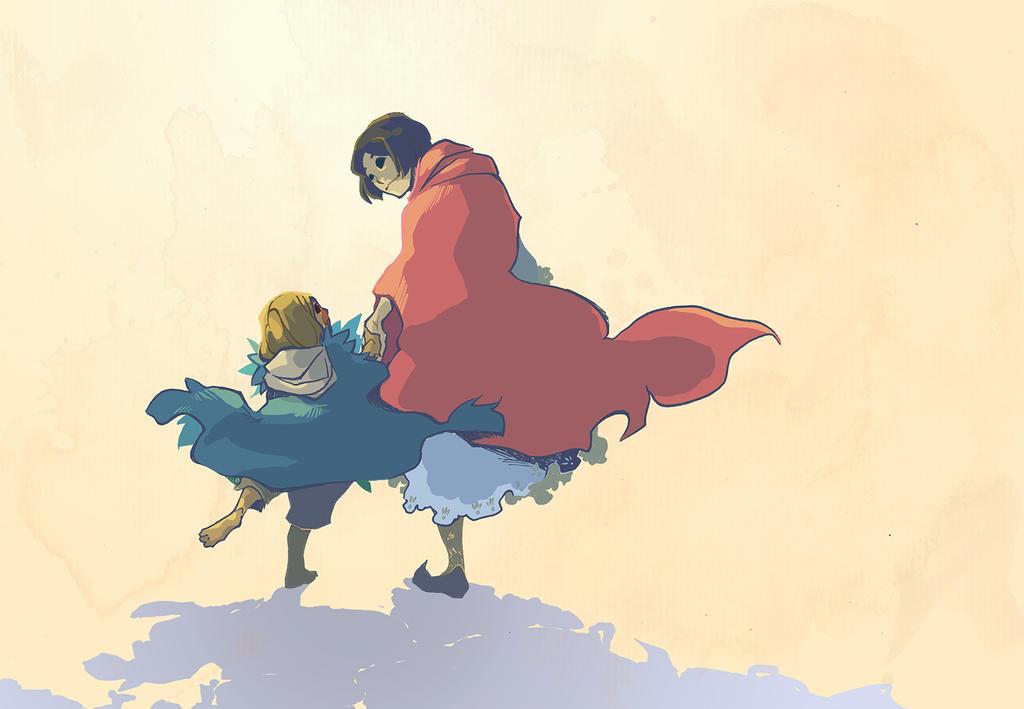 Red-Cloak, Feather-Cloak by Yutaan