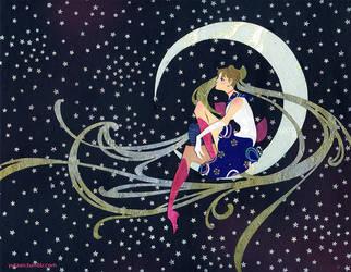 Rabbit in the Moon by Yutaan