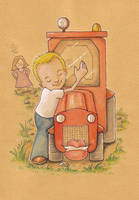 A man and his tractor by akinna