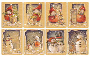 Christmas tags, set 1 by akinna