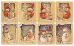 Christmas tags, set 1