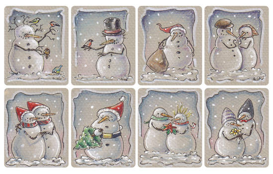 Christmas tags, set 2