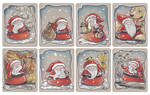 Christmas tags, set 5