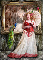 'Her red corset...' by akinna