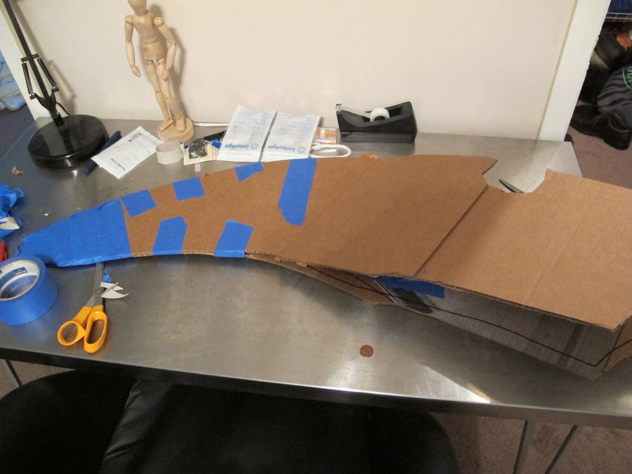 Prototype arm blade wip by QuantumMorality on DeviantArt