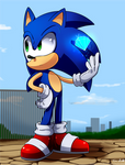 Sonic doodle by Tri-shield