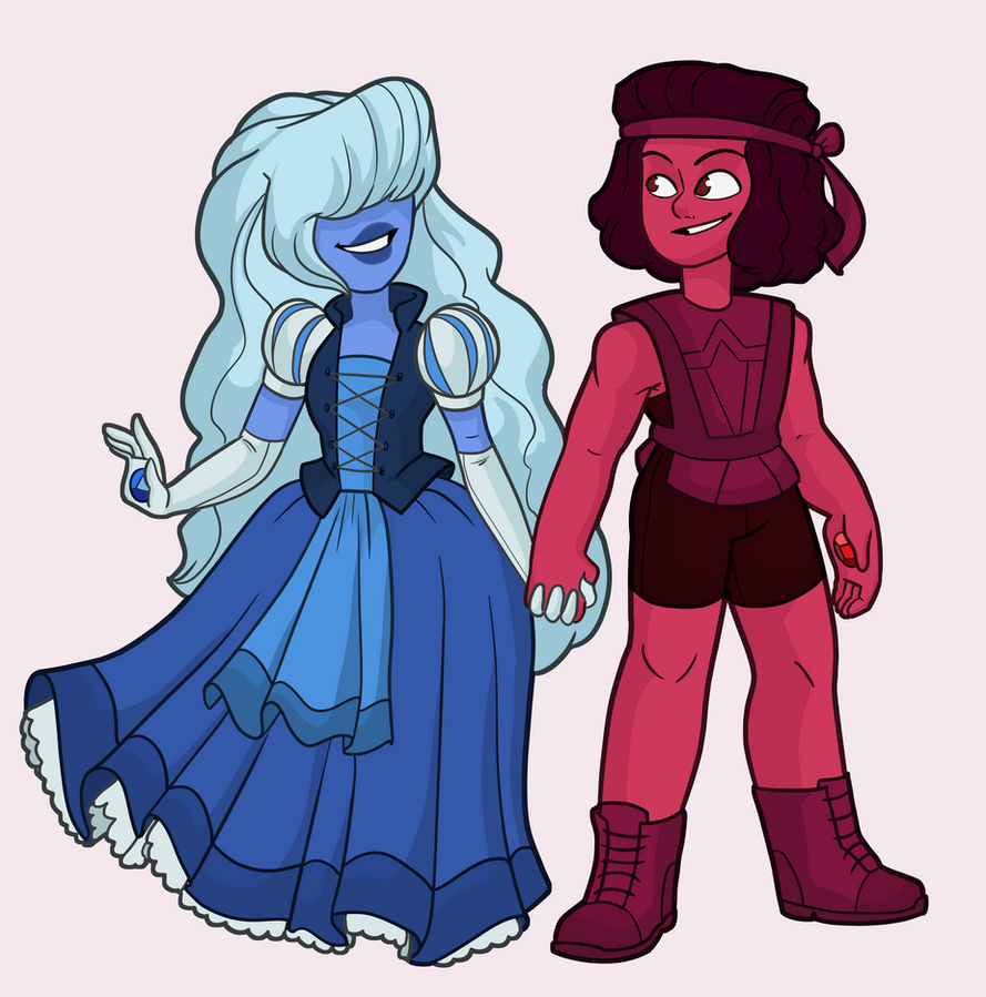 Ruby and Sapphire (c) Rebecca Sugar Artwork (c) Me