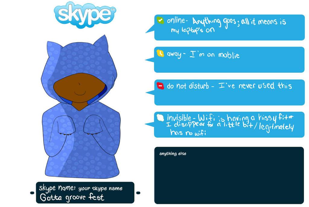 Skype status thing by nekoneya