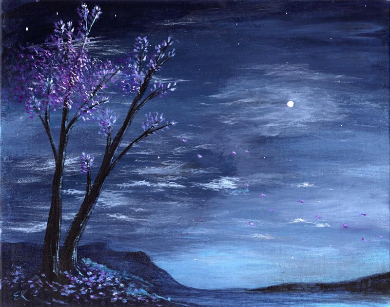 easy night scene paintings - photo #29