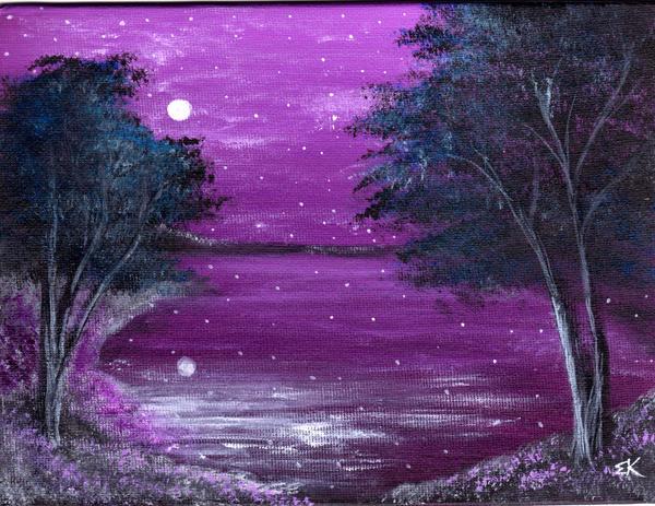 easy night scene paintings - photo #39