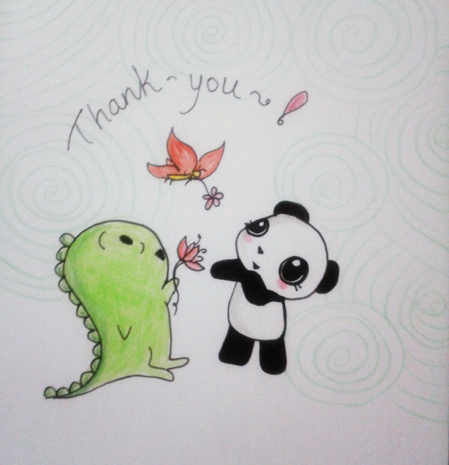 dino and panda thank you 007 by melodicinterval on deviantart