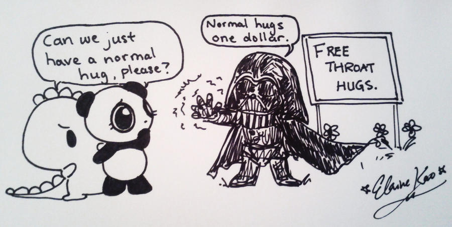 Dino + Panda, and Darth Vader by MelodicInterval