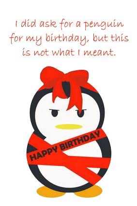 Penguin Happy Birthday Card