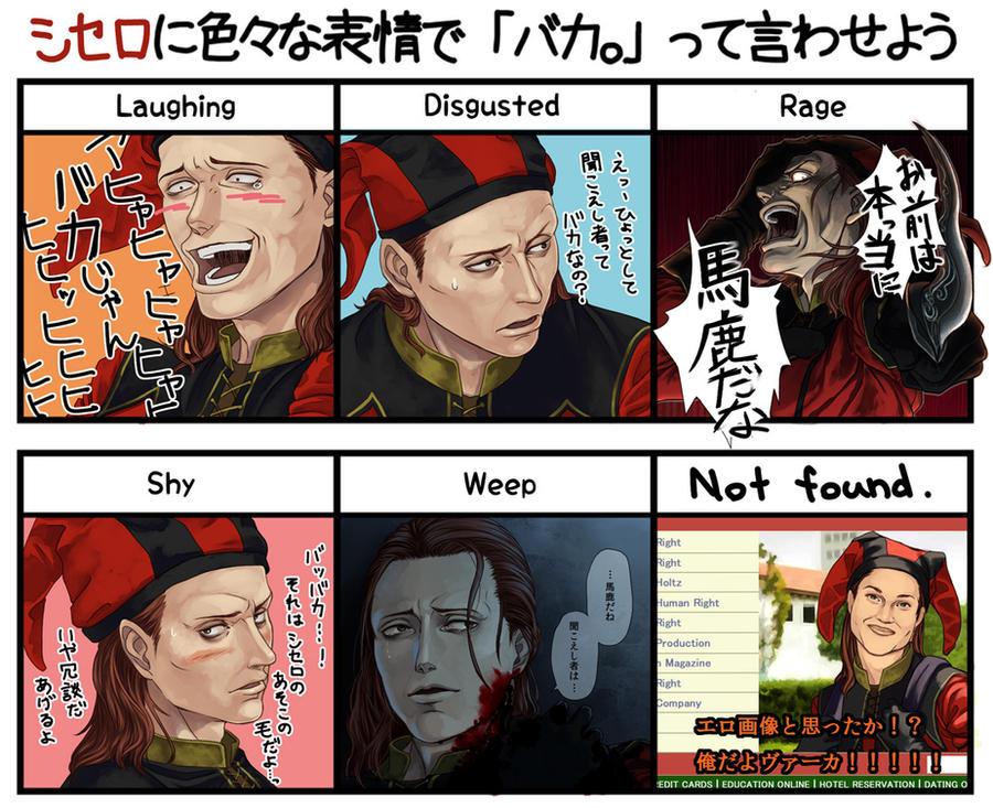 Cicero's Expression meme from Pixiv. by Umemaru