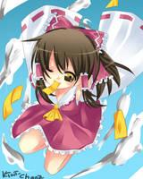 Collab- Reimu Hakurei Coloured by Kiwi-ChanZ
