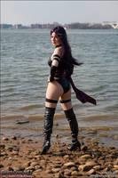 Psylocke: on the Beach by TresWildCosplay
