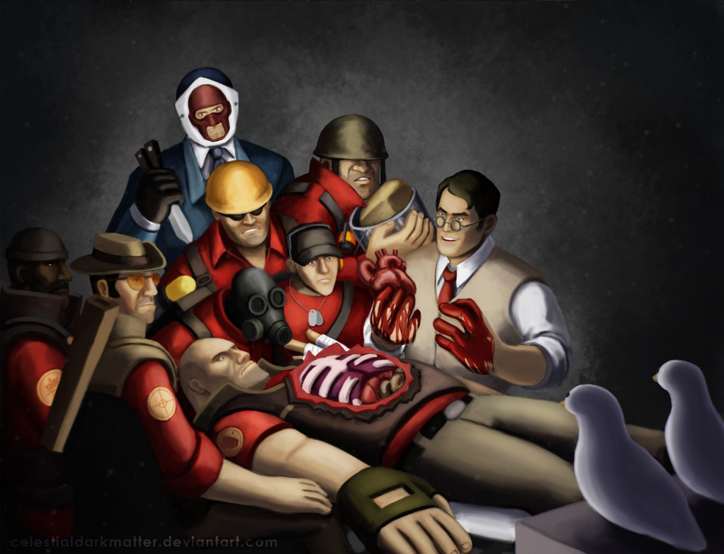 The Anatomy Lesson of the Medic by CelestialDarkMatter on DeviantArt