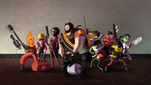 Adventure Time Cosplays Team Fortress 2