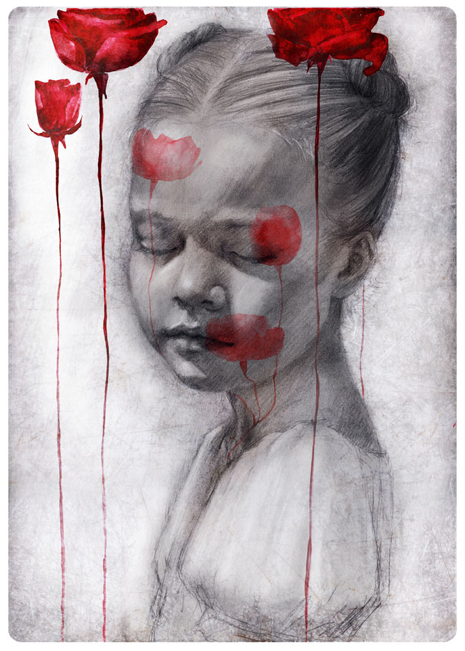 The rose and Death by BeatrizMartinVidal