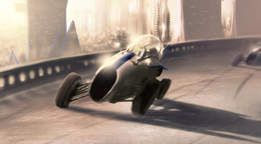 F1 Fighter Car by TheMuteRobot
