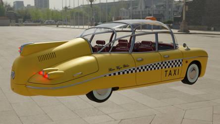 Retrofuturistic taxi 9 (square)