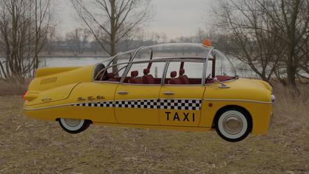 Retrofuturistic taxi 10 (river)