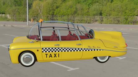 Retrofuturistic taxi 12 (parking lot 1)