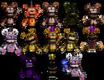 Freddy and Fredbear Puppets