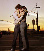 Kissing on the road... by Holly2007