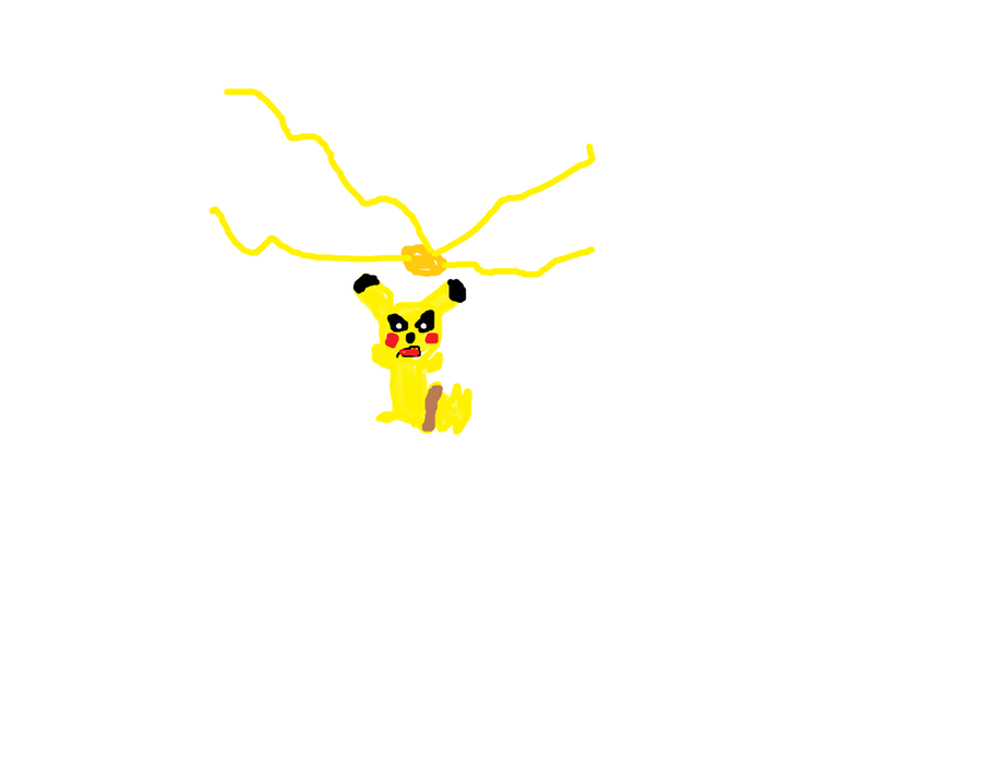 Pikachu uses ThunderShock by DevinWarriors