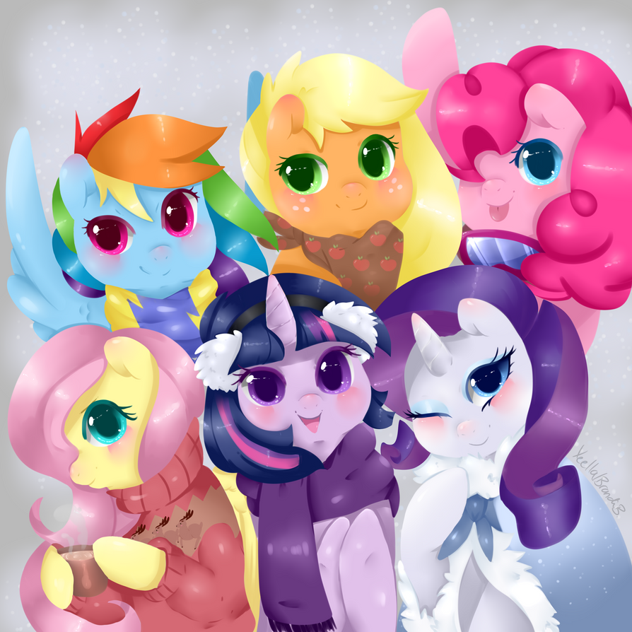 Mane 6 Holidays by Xeella