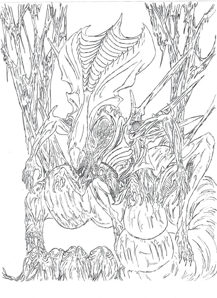 alien queen by wretchedspawn2012 on deviantart