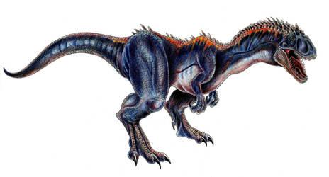 Indigo Spikeback Allosaurus by WretchedSpawn2012