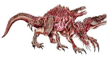 Mutated Spinosaurus by WretchedSpawn2012