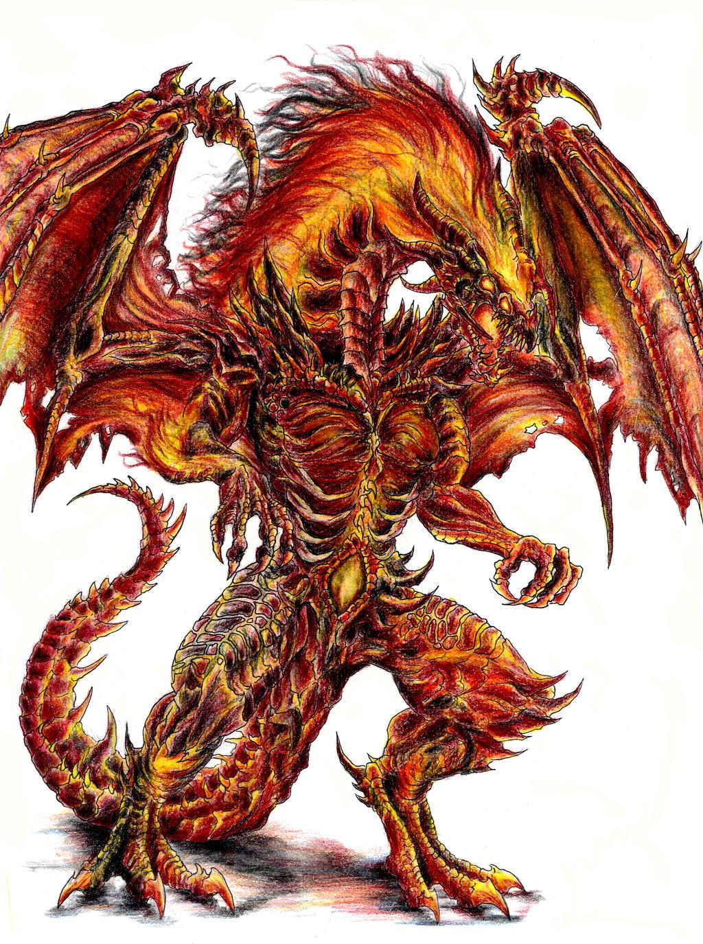 Fire Dragon Deathlord By Wretchedspawn2012 On Deviantart