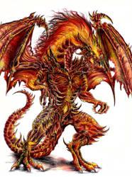 Fire Dragon Deathlord by WretchedSpawn2012