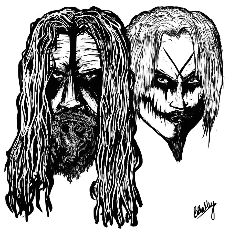 Rob Zombie and John 5 by WretchedSpawn2012