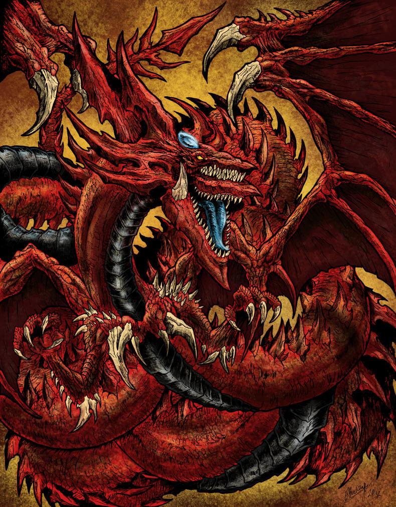 Slifer The Sky Dragon By Wretchedspawn2012 On Deviantart