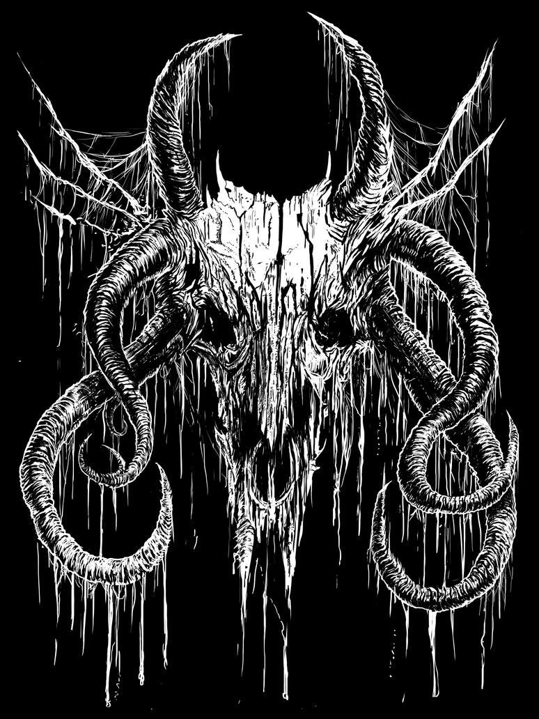 Blasphemous Skull by WretchedSpawn2012